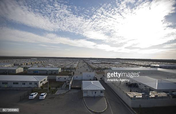 Syrian refugees are seen at Elbeyli accommodation facility set by Turkish officials in Kilis Turkey on January 29 2016 Hosting nearly 25 million...