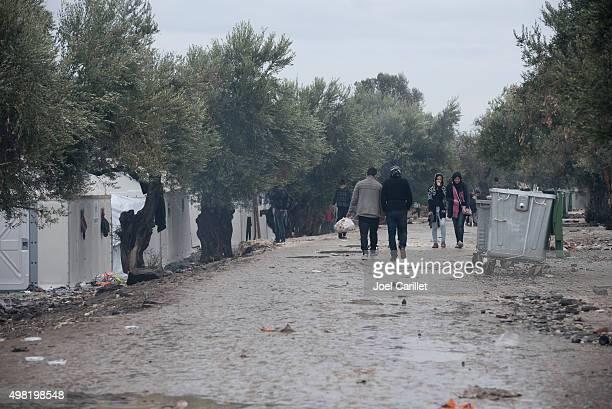 syrian refugees at kara tepe camp on lesbos, greece - flyktingläger bildbanksfoton och bilder