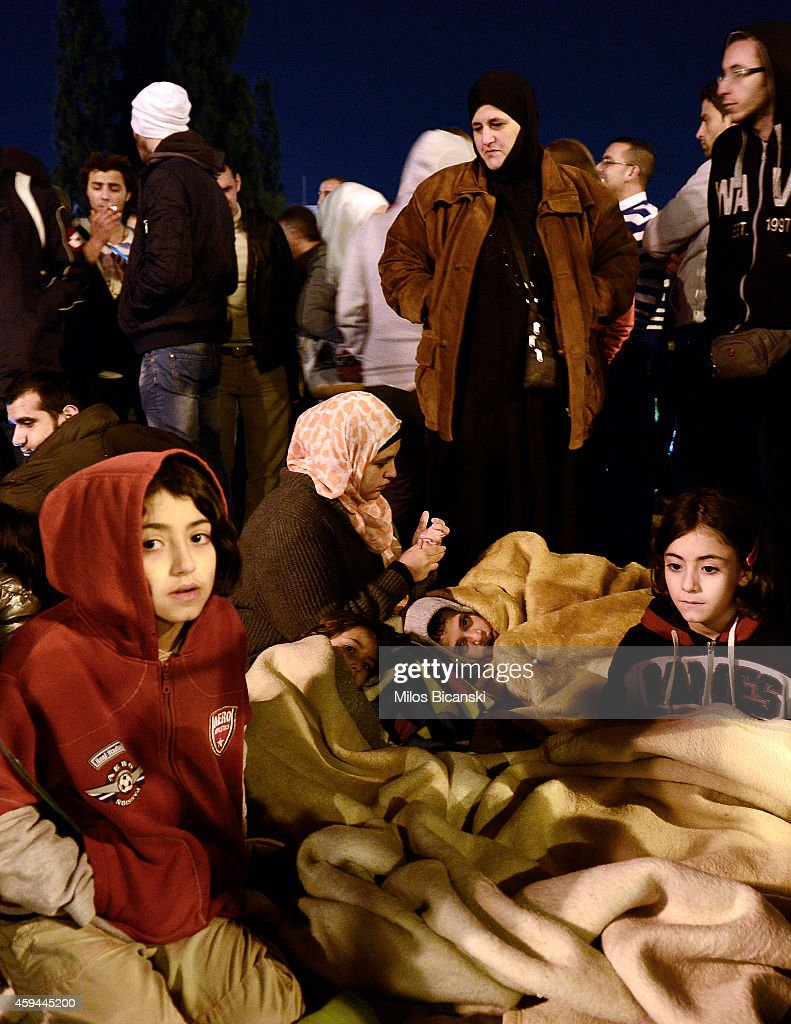 Syrian Refugees Conduct A Silent Protest To Demand A Solution To Their Plight : News Photo