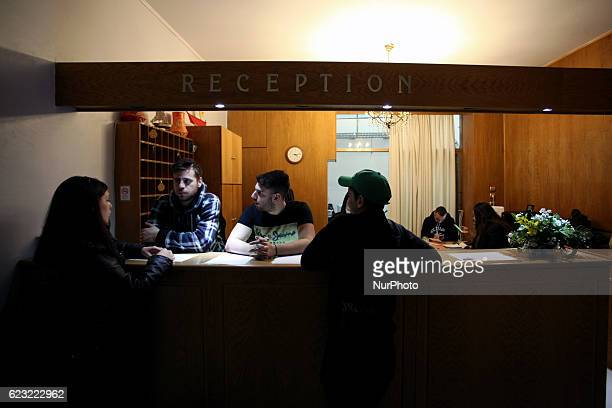 Syrian refugees living in a hotel in Athens, Greece, November 14, 2016. Around 200 people live in this residence provided by NGO SolidarityNow. Food,...