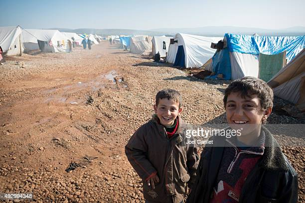 syrian refugees - refugee camp stock pictures, royalty-free photos & images