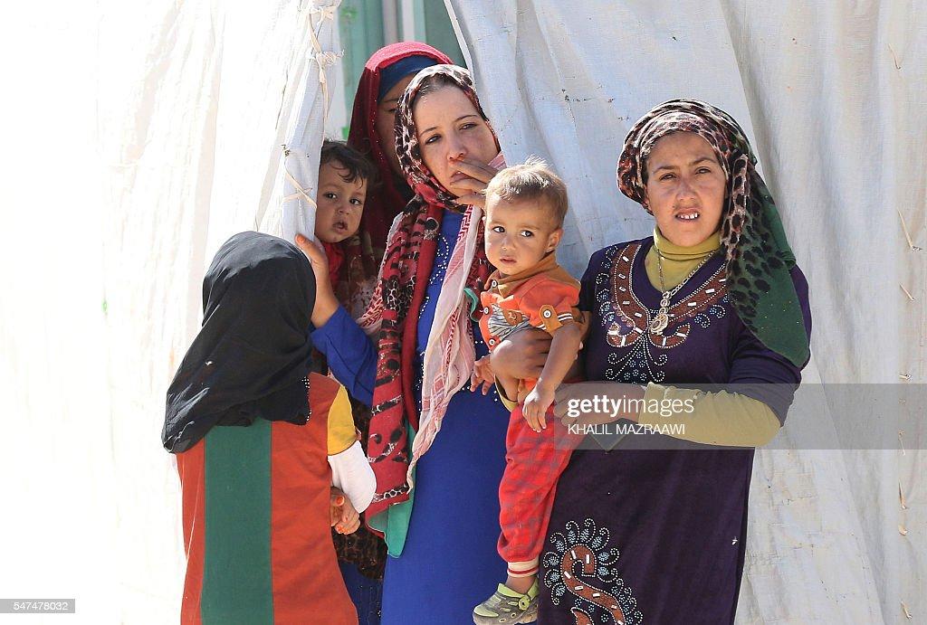 JORDAN-SYRIA-CONFLICT-REFUGEES-CAMP : News Photo