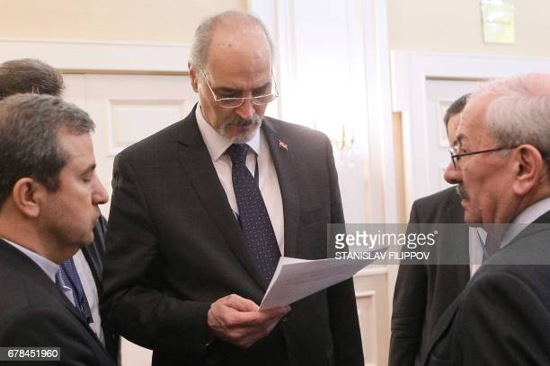 Syrian regime negotiator Bashar alJaafari attends the fourth round of Syria peace talks in Astana on May 4 2017 / AFP PHOTO / STANISLAV FILIPPOV