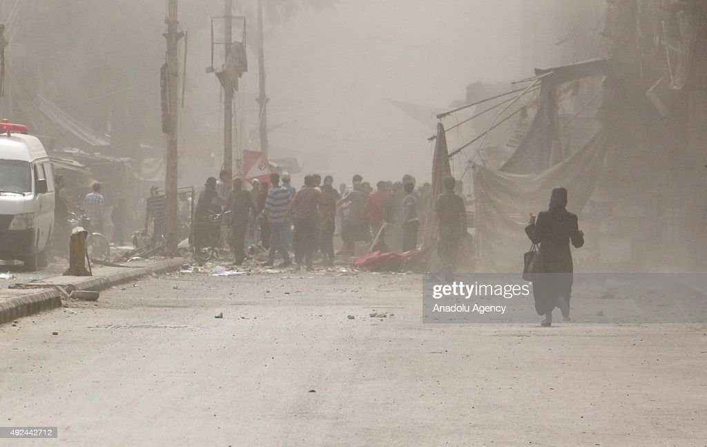 Syrian army attacks residential areas in Damascus : News Photo