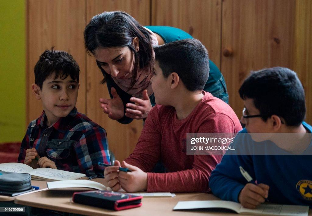 DOUNIAMAG-GERMANY-SYRIA-REFUGEE-EDUCATION : News Photo
