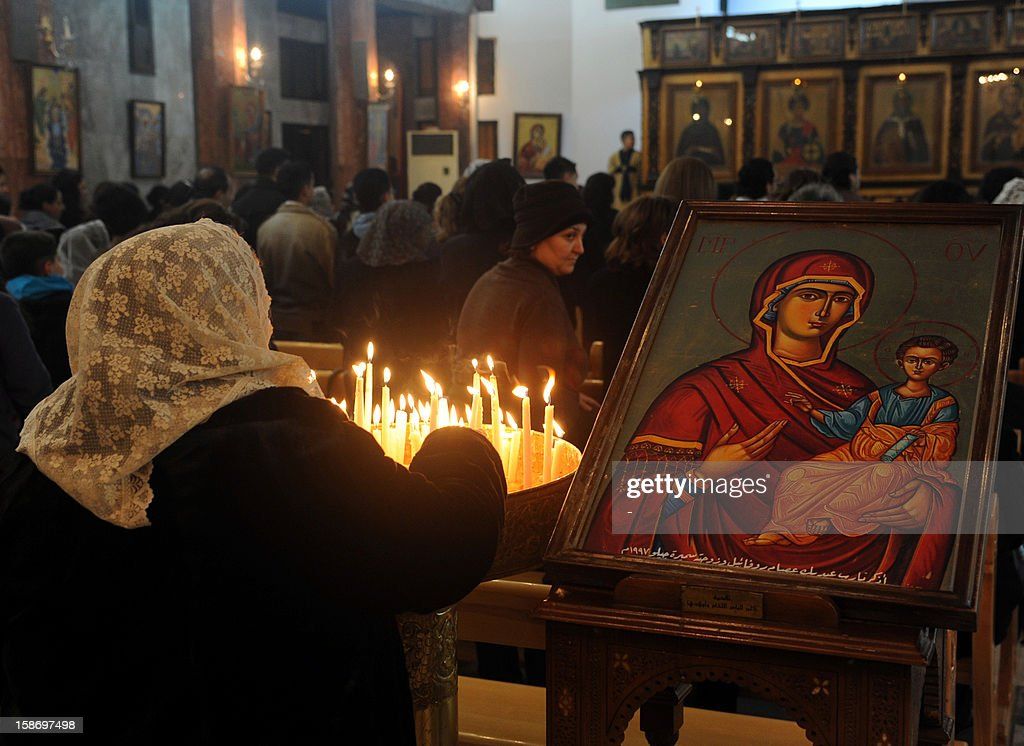 SYRIA-RELIGION-CHRISTIANITY-CHRISTMAS : News Photo
