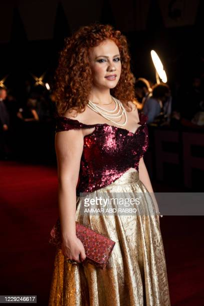 Syrian-Armenian singer Lena Chamamyan arrives at the opening ceremony of the 4th edition of El Gouna Film Festival, in the Egyptian Red Sea resort of...