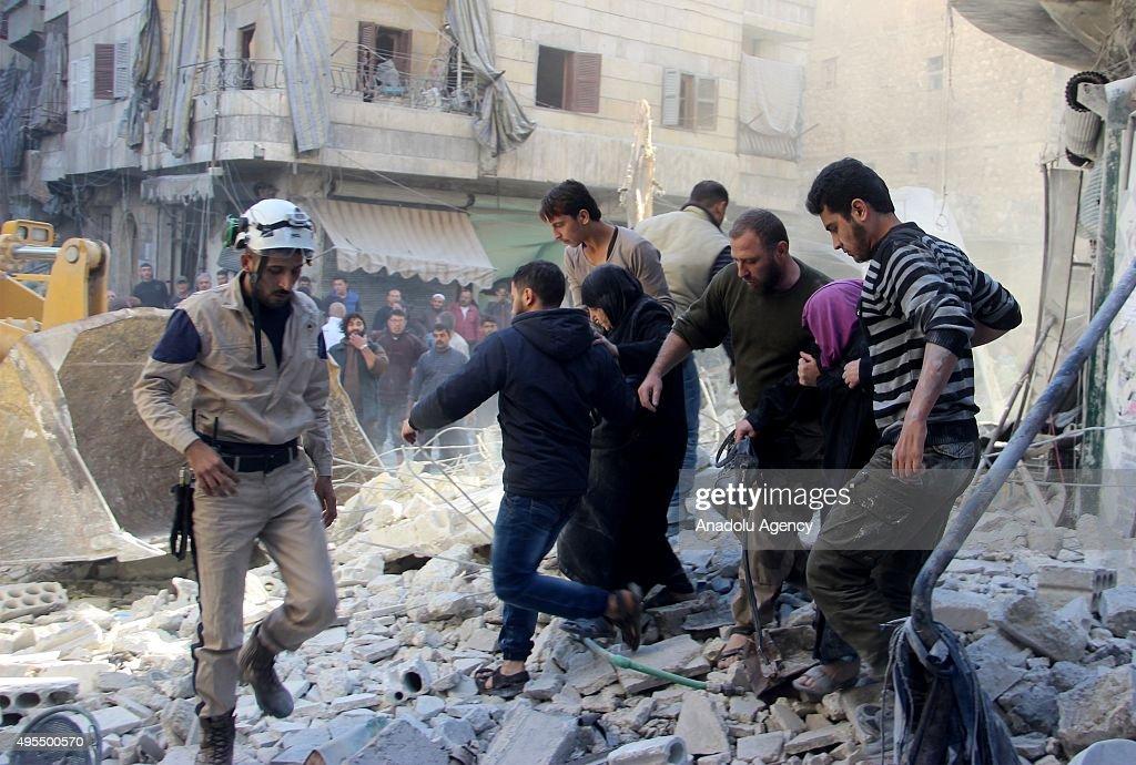 Russian airstrikes hit Aleppo : News Photo