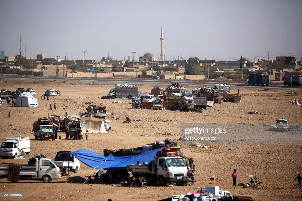SYRIA-CONFLICT-DISPLACED : Nachrichtenfoto