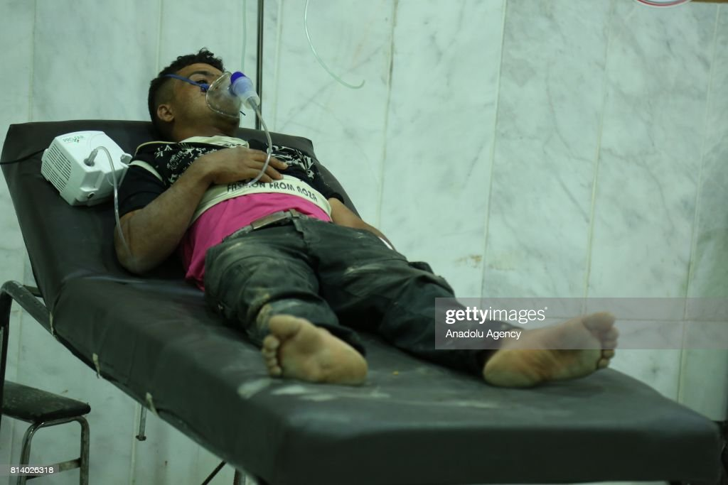 Assad Regime's alleged chemical gas attack in Damascus : News Photo