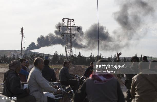 Syrians return their homes after the Al Bab town center has been entirely freed from Daesh terrorists as part of the 'Operation Euphrates Shield' at...