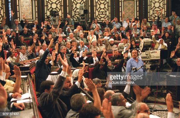 Syria's 250member parliament approves by acclamation Bashar alAssad's candidacy to succeed his late father as the country's president 27 June 2000 in...