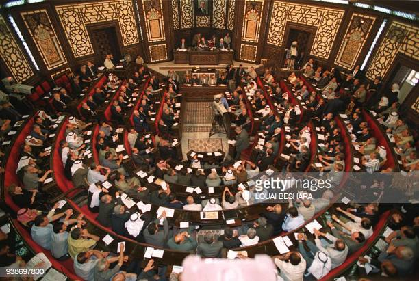 Syria's 250member parliament meets to approve Bashar alAssad's candidacy to succeed his late father as the country's president 27 June 2000 in...