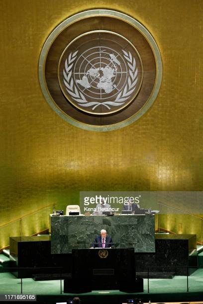 Syria's Foreign Minister Walid Muallem speaks at the 74th United Nations General Assembly on September 28, 2019 in New York City. The United Nations...