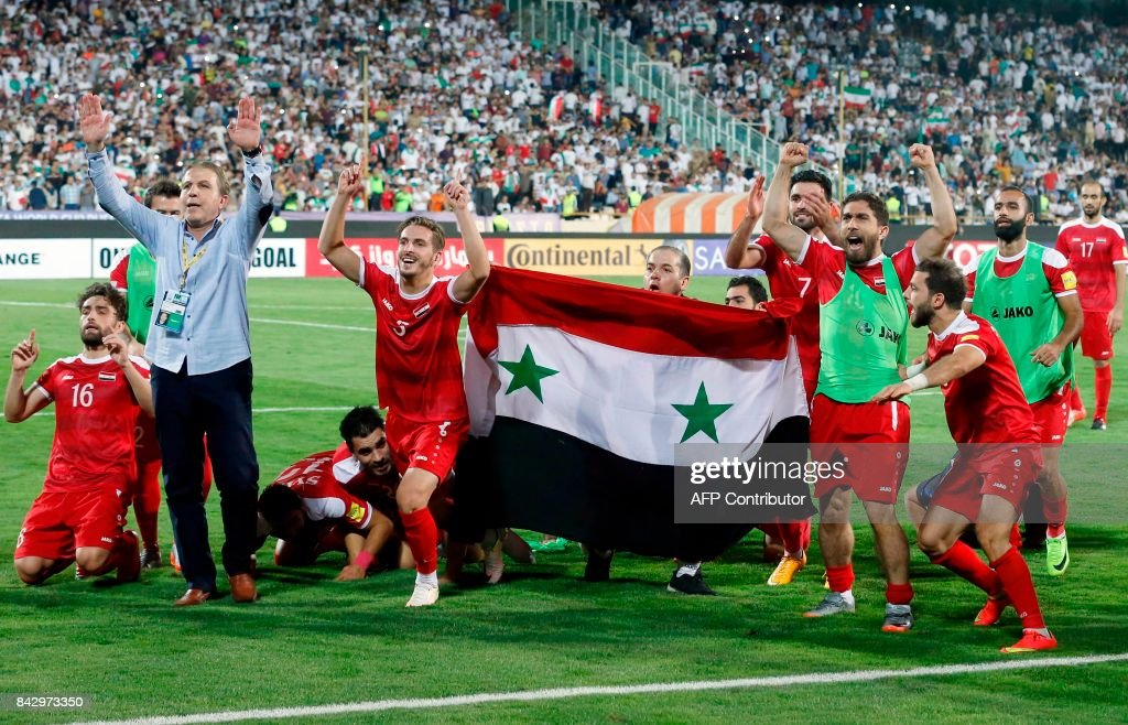 TOPSHOT-FBL-WC-2018-QUALIFIER-IRI-SYR : News Photo