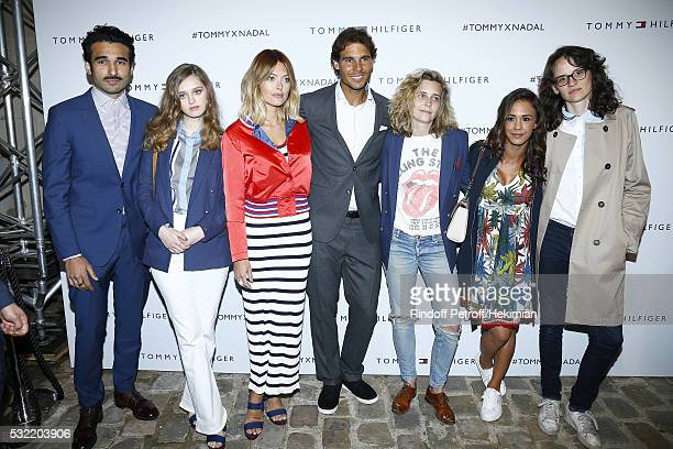 Syrus Shahidi Lily Taieb Caroline Receveur Rafael Nadal Clemence Gabriel Alice Belaidi and Pauline Thomson attend the Tommy X Nadal party hosted by...