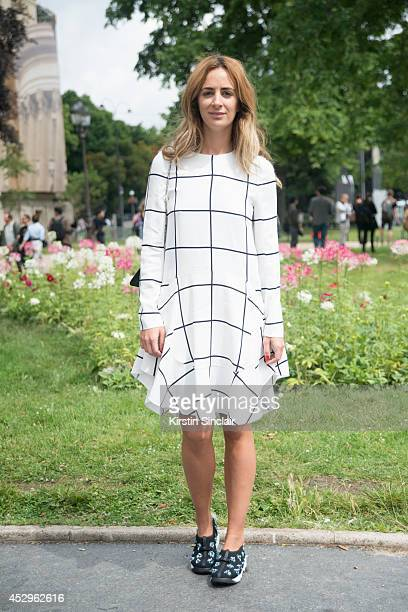 System Magazine Founder Alexia Niedzielski wearing Dior trainers and a Chloe dress day 3 of Paris Haute Couture Fashion Week Autumn/Winter 2014 on...
