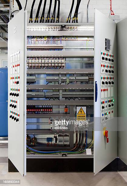 systems control cabinet - fuse stock photos and pictures