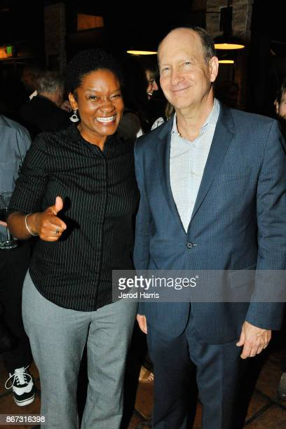 Systems Engineer Tracy Drain and Vice President of Programs for Alfred P Sloan Foundation Doron Weber attend Sloan Film Summit 2017 Day 1 at Regal...