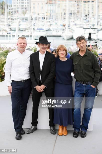 Syuleyman Alilov Letifov Director Valeska Grisebach Meinhard Neumann and Reinhardt Wetrek attend 'Western' Photocall during the 70th annual Cannes...