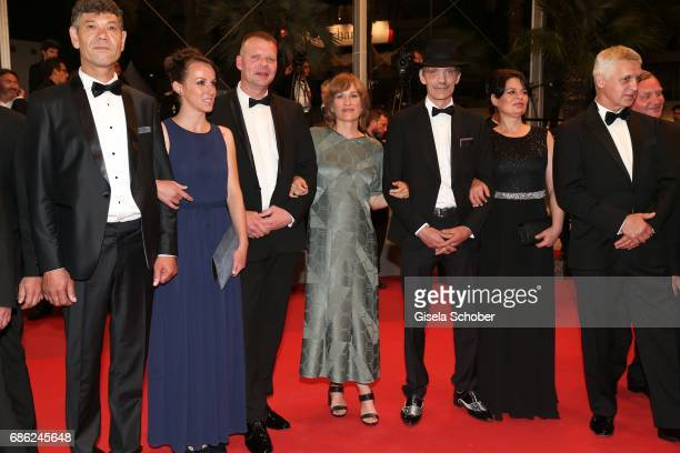 Syuleyman Alilov Letifov Vyara Borisova Reinhardt Wetrek Valeska Grisebach Meinhard Neumann Veneta Fragnova attend the 'Western' screening during the...
