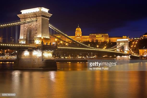 Széchenyi Chain Bridge and Buda Castle, Budapest, Hungary