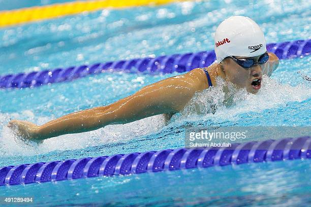 Sze Hang Yu of Hong Kong competes in the Women's 200m Butterfly Final during the FINA World Cup at the OCBC Aquatic Centre on October 4 2015 in...