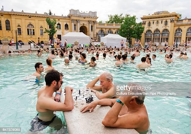 szechenyi thermal baths, budapest, hungary - hungarian culture fotografías e imágenes de stock