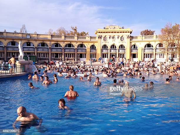 Szechenyi Thermal Baths in Budapest, Hungary