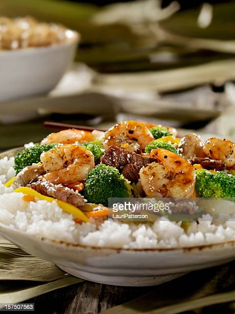Szechuan Beef and Shrimp Stirfry