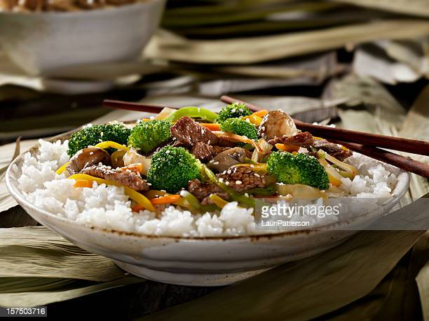 Szechwan Beef with Rice