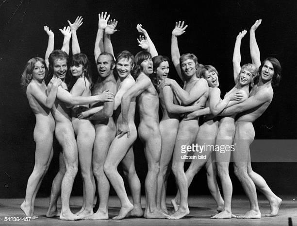 Szene aus dem Musical 'Oh Calcutta'Insz Theater des Westens Berlin Juni 1971