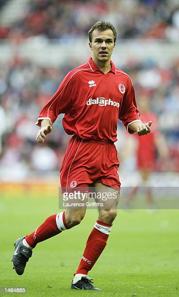 Szilard Nemeth of Middlesbrough during the FA Barclaycard Premiership game between Middlesbrough and Bolton Wanderers on October 5 2002 at the...