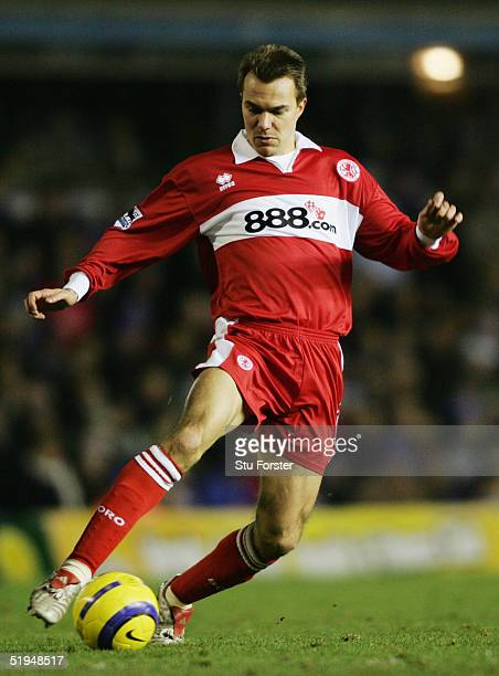 Szilard Nemeth of Middlesbrough in action during the Barclays Premiership match between Birmingham City and Middlesbrough at St Andrews on 26th...