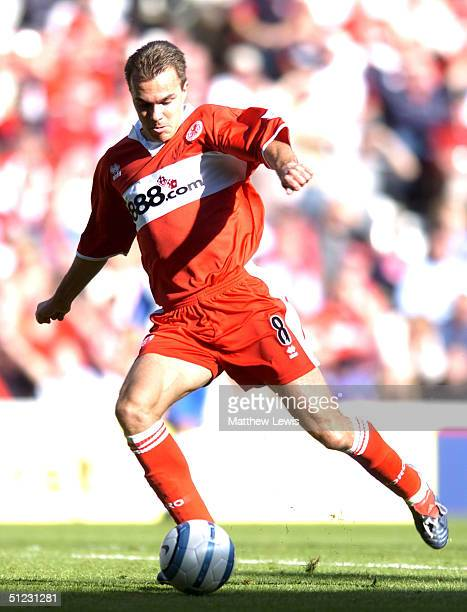 Szilard Nemeth of Middlesbrough in action during the FA Barclays Premiership match between Middlesbrough and Crystal Palace at The Riverside Stadium...