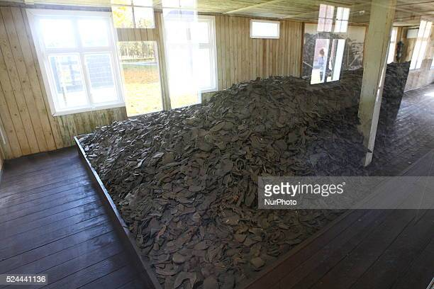 Sztutowo 24th Oct 2015 Hundreds of shoes and items of clothing have been found in the forest close to former Nazi German concentration camp Stutthof...