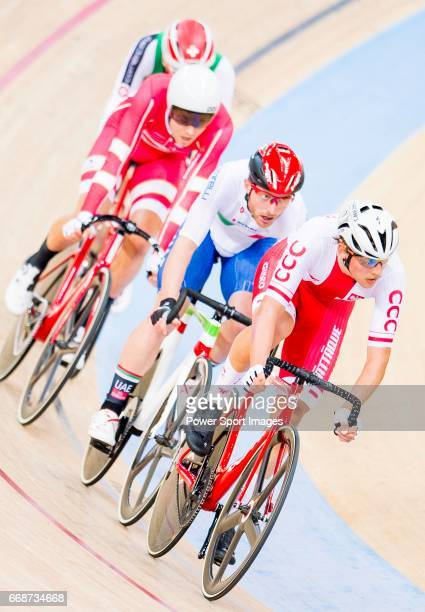 Szymon Sajnok of Poland competes in the Men's Omnium Scratch during 2017 UCI World Cycling on April 15 2017 in Hong Kong Hong Kong