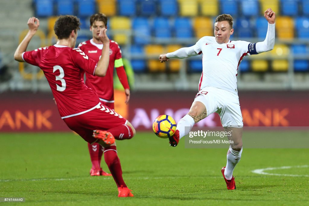 Szymon Zurkowski of Poland during UEFA U21 Championship Qualifier match between Poland and Denmark on November 14, 2017 in Gdynia, Poland.