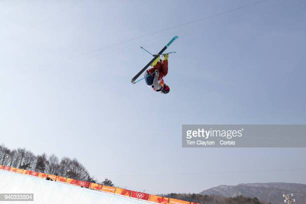 't David Wise of the United States in action during the Freestyle Skiing Men's Ski Halfpipe qualification day at Phoenix Snow Park on February 20...