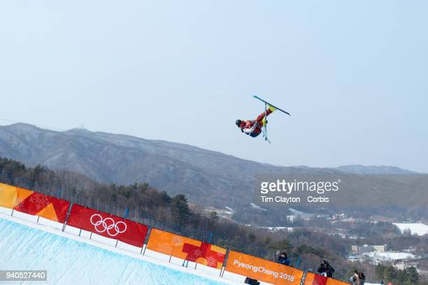 't David Wise of the United States in action during the Freestyle Skiing Men's Ski Halfpipe qualification at Phoenix Snow Park on February 20 2018 in...