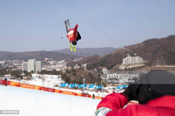 't Kevin Rolland of France in action during the Freestyle Skiing Men's Ski Halfpipe qualification day at Phoenix Snow Park on February 20 2018 in...