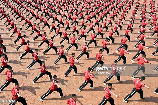 Ta Gou students practice synchronized forms