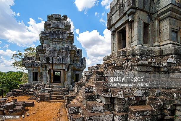 ta keo temple in angkor, siem reap, cambodia - mount meru stock photos and pictures