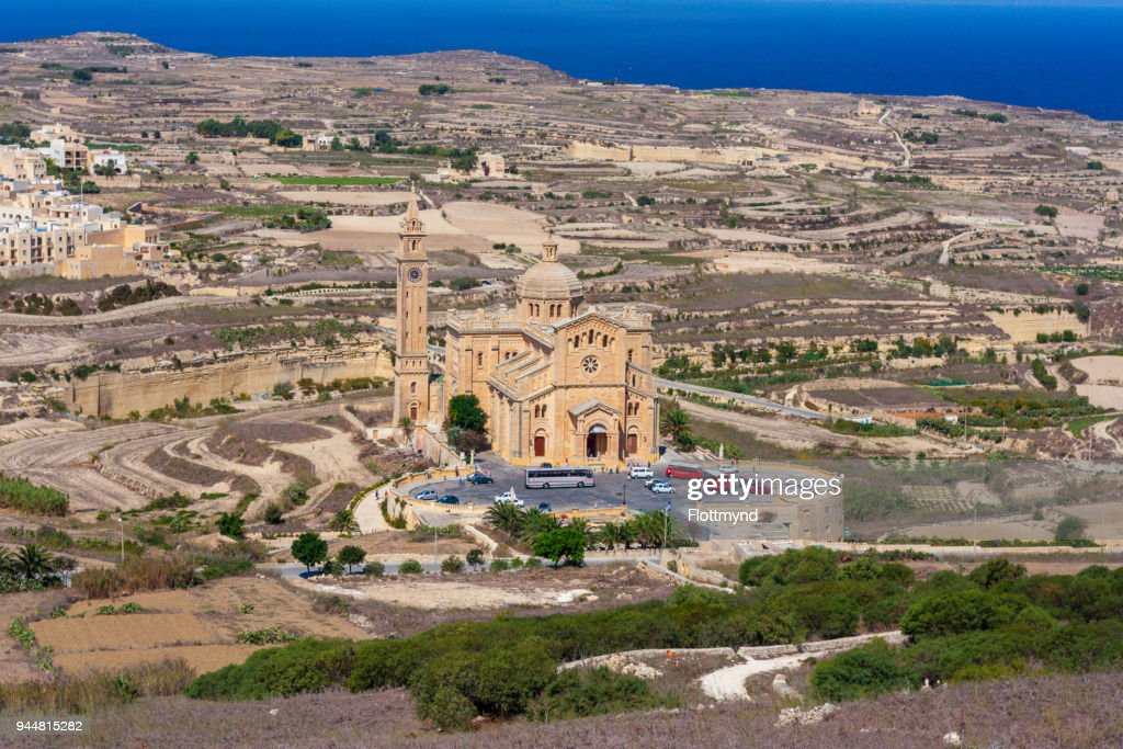 Ta Pinu National Shrine near Gharb, Gozo Malta : Stock Photo