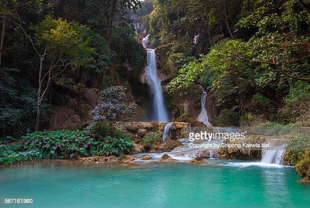 Taad Kouang Si Waterfall in Luangprabang, Laos