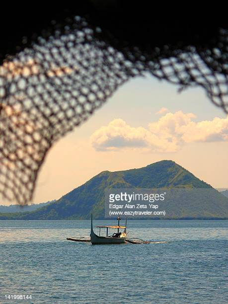 taal lake and volcano - taal volcano stock photos and pictures