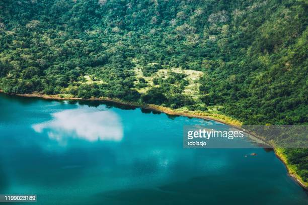 taal volcano crater lake in luzon batangas philippines - taal volcano eruption stock pictures, royalty-free photos & images