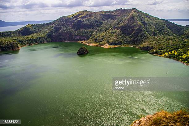 taal volcano crater - taal volcano stock photos and pictures