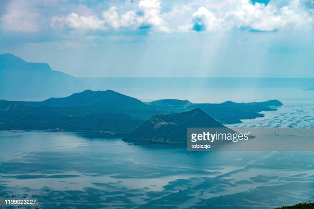taal volcano island in luzon batangas philippines - taal volcano eruption stock pictures, royalty-free photos & images