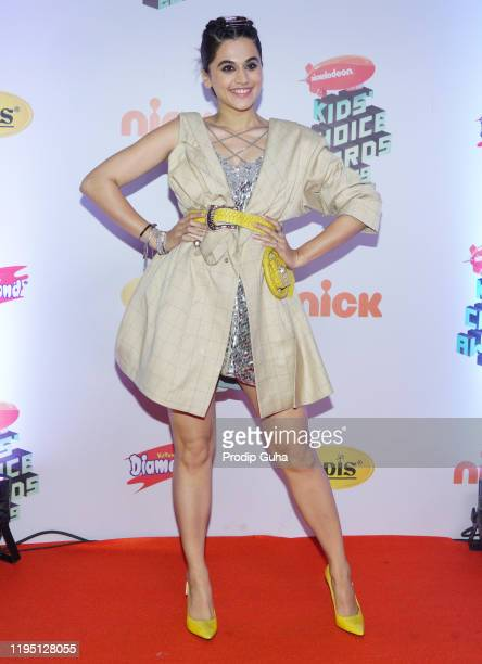 Taapsee Pannu attends the Nickelodeon The Kids Choice Awards 2019 on December 202019 in Mumbai India